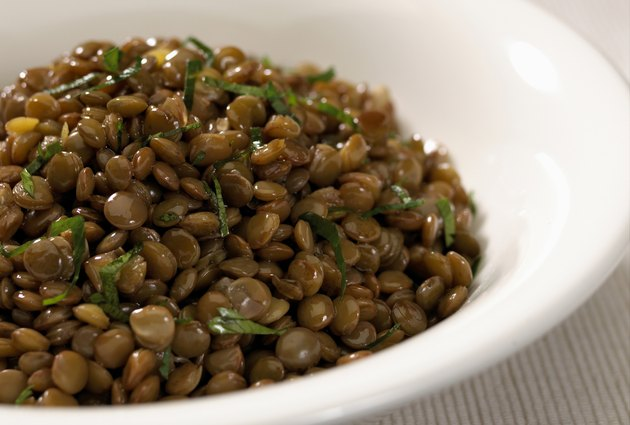 close up with  lentil