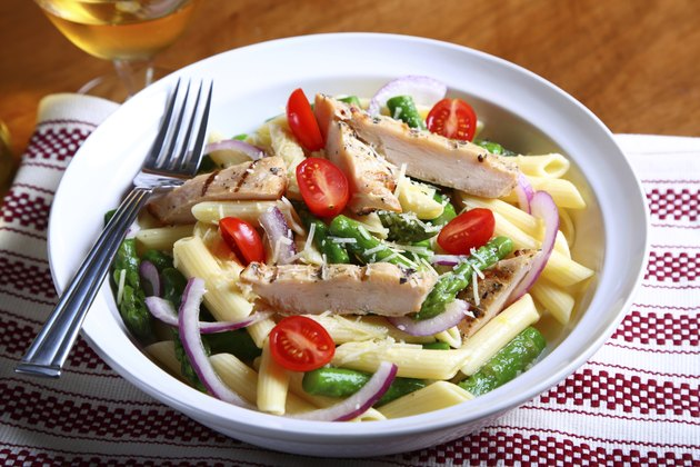 Grilled chicken with Penne pasta