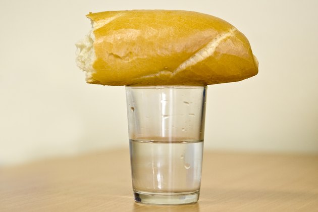 Glass with bread