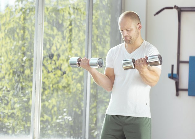 Weight lifting exercise at home