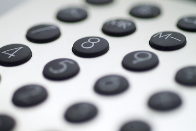 Close-up of a keypad of a calculator