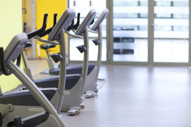 gym with ergometers