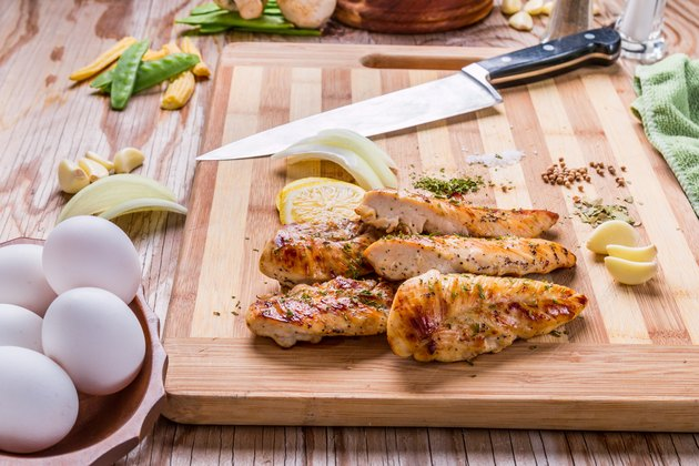 grilled white meat chicken breast, chicken strips