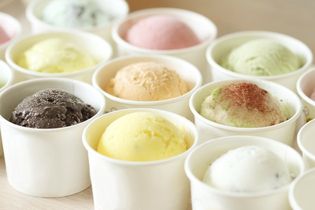 sweet and colorful ice cream scoops