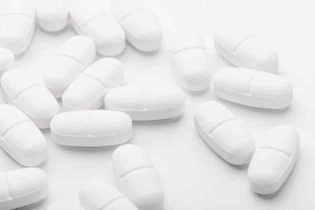 White mixing pills