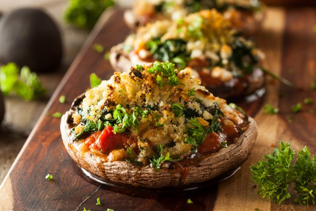 Homemade Baked Stuffed Portabello Mushrooms