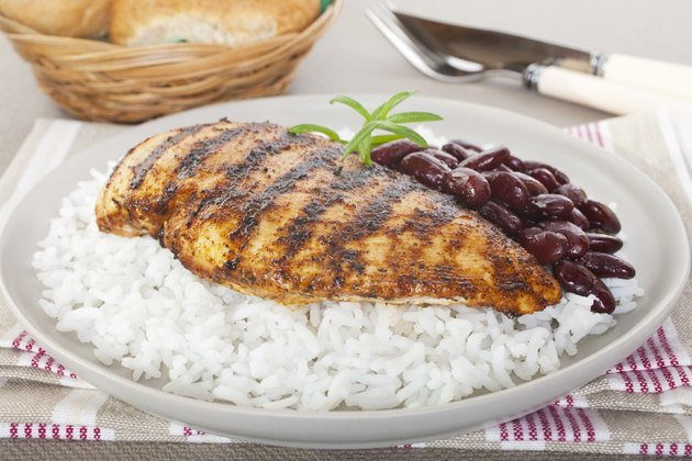 Cajun Chicken with Rice and Beans