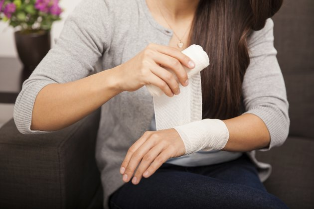 Removing a bandage at home