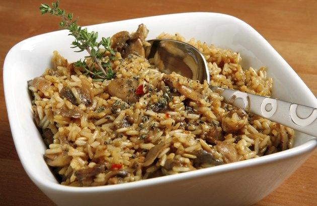 mushrooms and rice