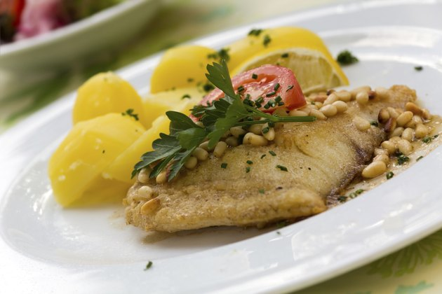 Pike Perch with Potatoes and Pine Seeds