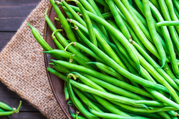 Green beans close up.