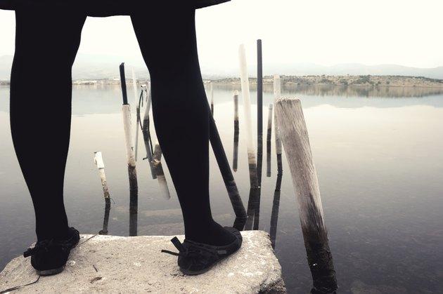 Woman legs close up