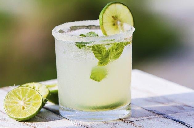 Fruit drinks. Fresh lemonade with sugar