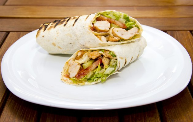 Doner kebap - Chicken Salad Sandwich Wrap