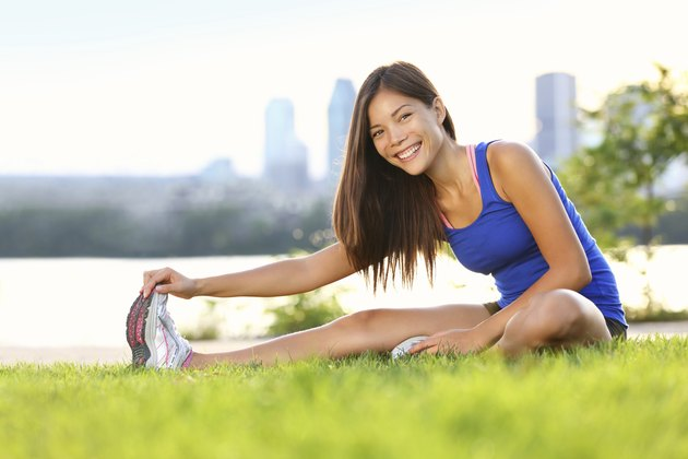Exercise woman stretching