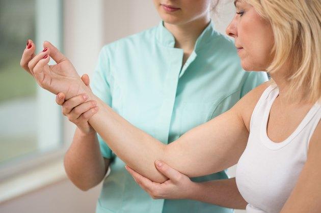 Flexing the elbow