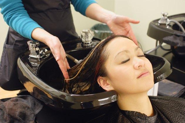 At the hair salon