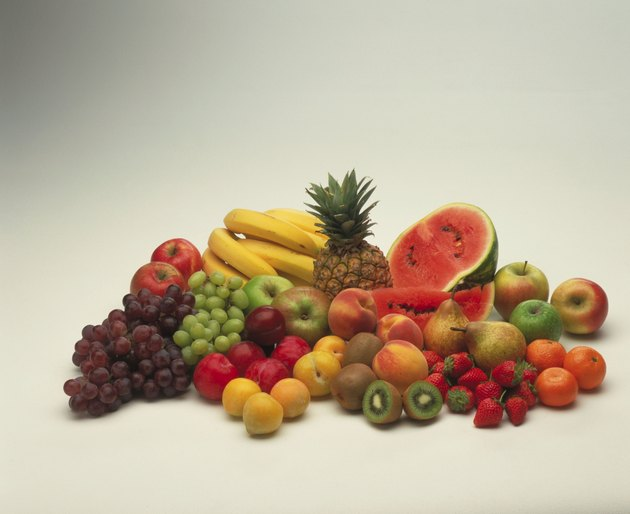 various  fruit and vegetable items