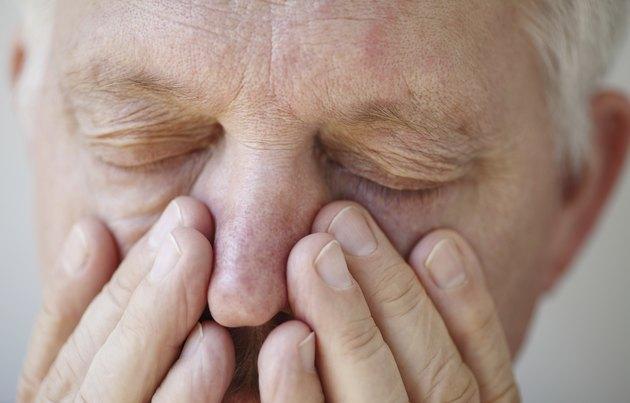 Sinus problems in senior man