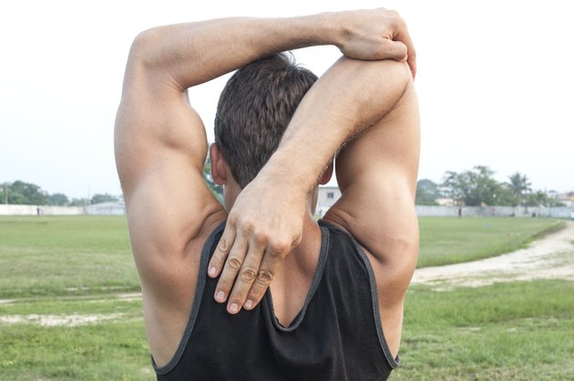 Arm stretch and warm up