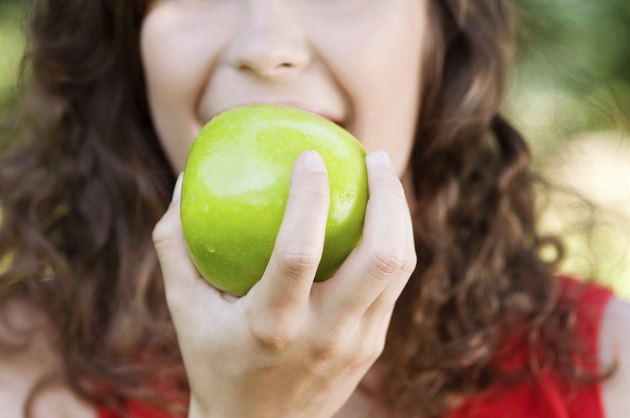 Healthy, fresh, green apple