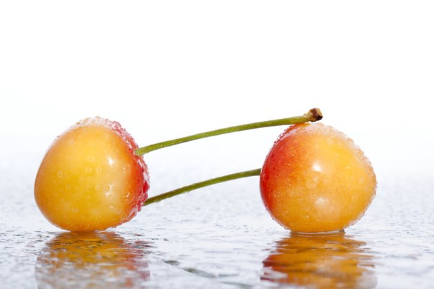 Cherries with drops