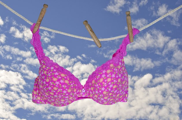 Pink Bra on Clothesline
