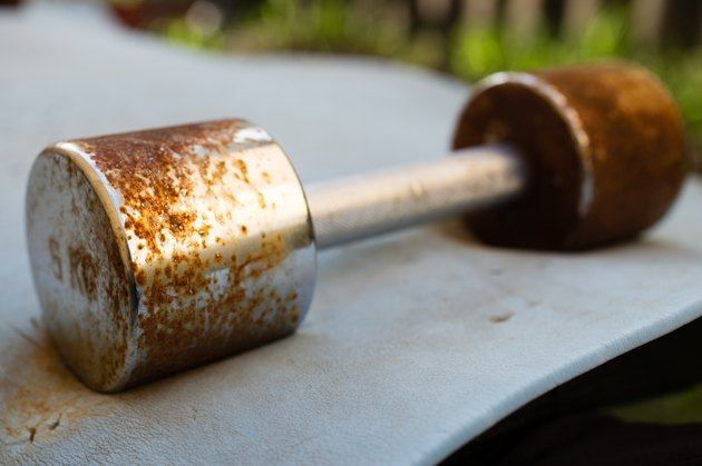 Rusty weight lifting