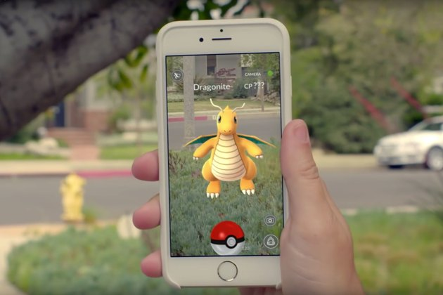A Pokemon on a iPhone