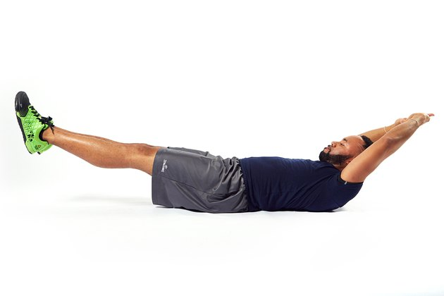 man doing an abdominal hold exercise
