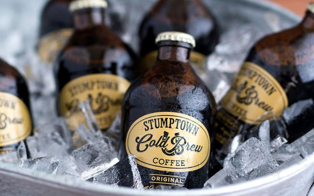 Bottles of Stumptown Cold Brew Coffee.