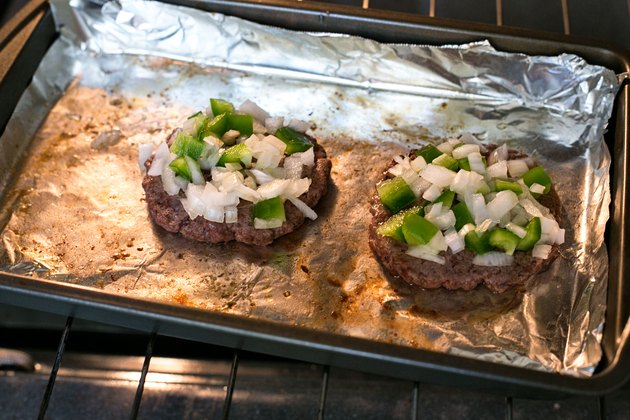 Baking hamburger patties in the oven at home