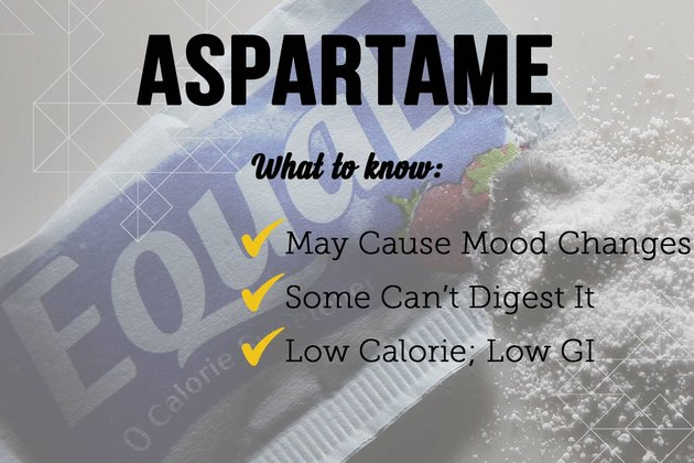Aspartame as a sugar substitute