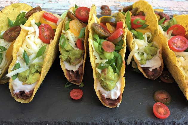 No-Cook Mexican Layer Dip Tacos