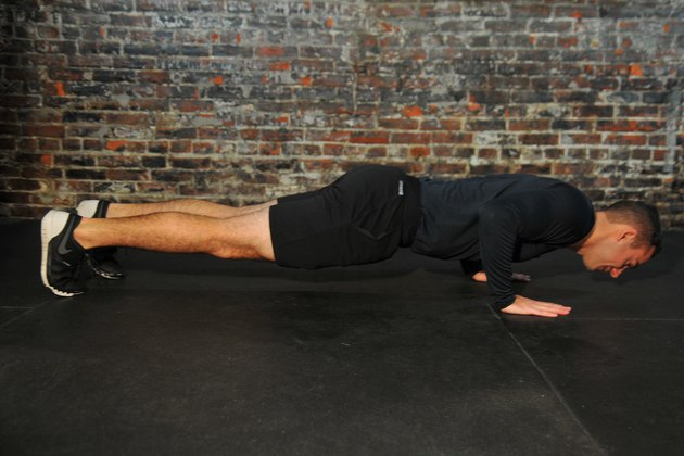 man doing a push-up