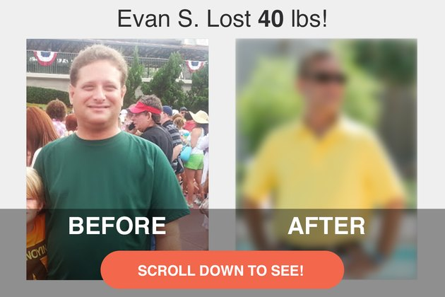 Evan lost 40 pounds and dramatically improved his health.