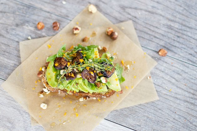 Arugula and Fig Avocado Toast