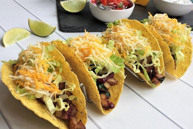 """Americanized"" Vegetarian Crispy Tacos"