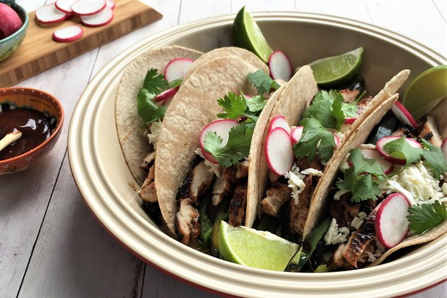 Oaxacan BBQ Chicken and Poblano Soft Tacos