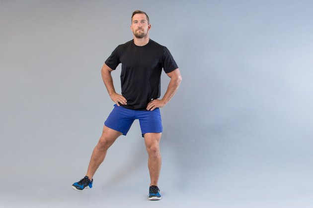 Man performing lateral run modification for knee pain