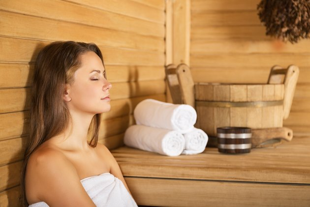 Hitting the sauna for a little bit is a great way to relax and get a little leaner.
