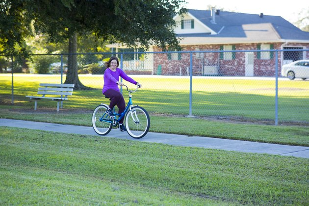 Gail riding a bike.