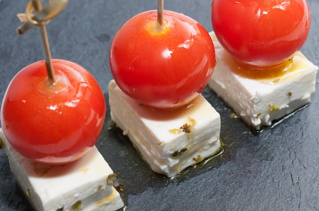 Tomato and Feta Cheese Easy 100-Calorie Snacks