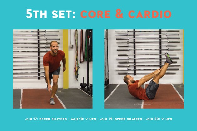 Increase your speed, endurance and agility with this cardio drill. Then sculpt your six pack.
