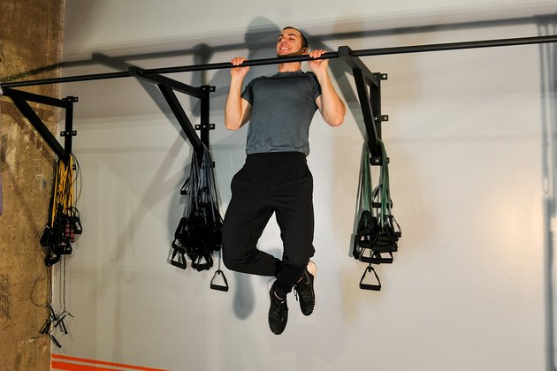 man doing a pull-up