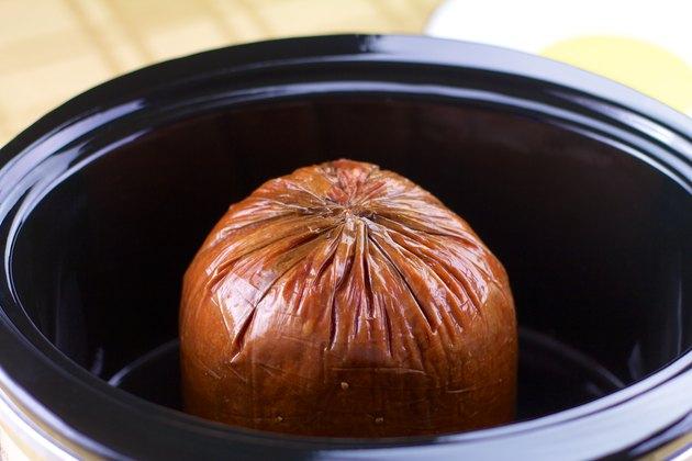precooked ham in crock pot