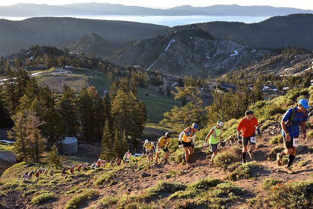 People running Grand Slam of Ultrarunning