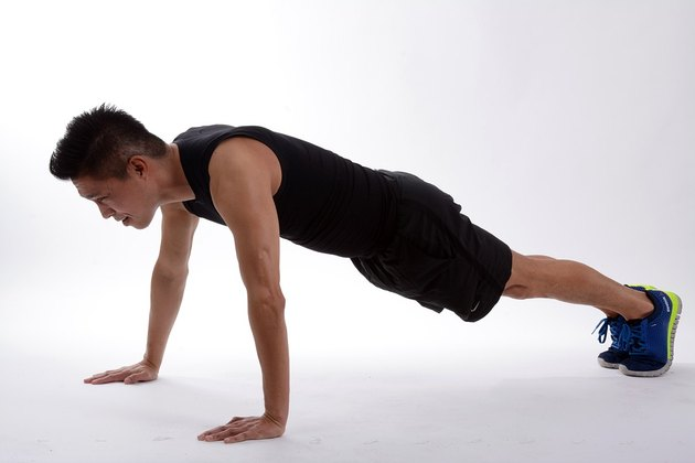 The push-up is an excellent way to develop a strong chest.