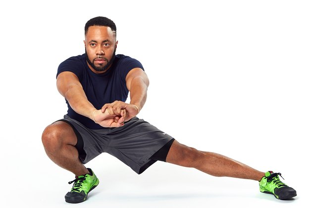 man doing a lateral lunge