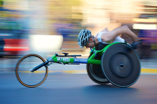 Wheelchair sprints allow people who can't use their legs to get a good workout.